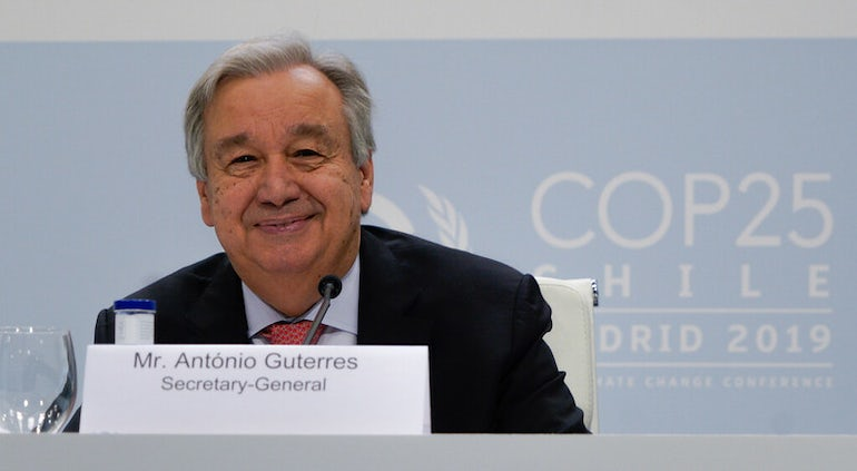 UN Secretary-General Says Action On Climate Change 'Utterly Inadequate'