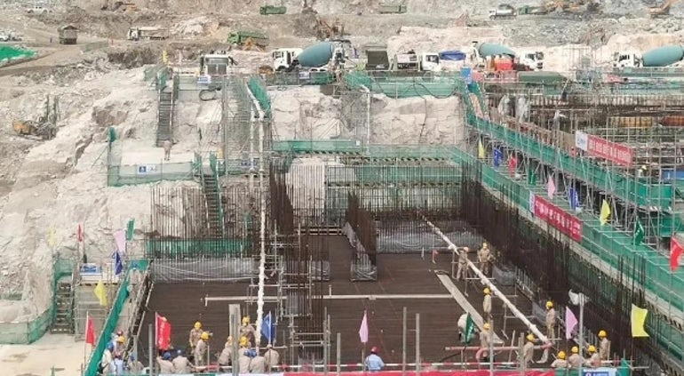 Concrete Pouring Begins For Turbine Building Base Slab At Tianwan-7