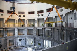 Lower Cylinder Of Massive Cryostat Set In Place At Iter