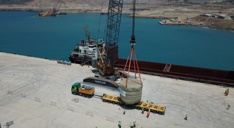 First Major Components Arrive Onsite In Turkey