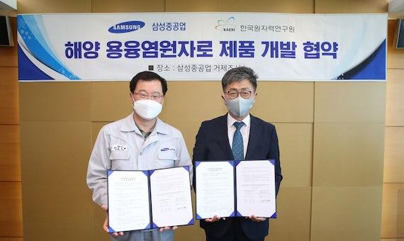 South Korea's KAERI And Samsung To Develop Molten Salt Reactor For Maritime Use