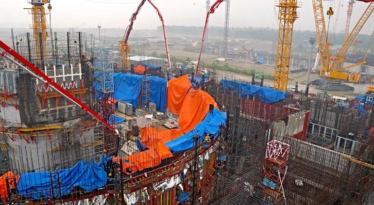Rosatom Announces Concreting Landmark At Rooppur-1