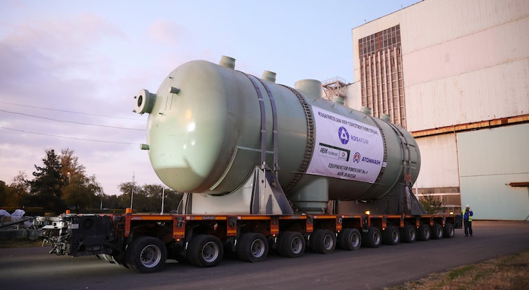 Second Steam Generator Leaves Russia For Kudankulam-4