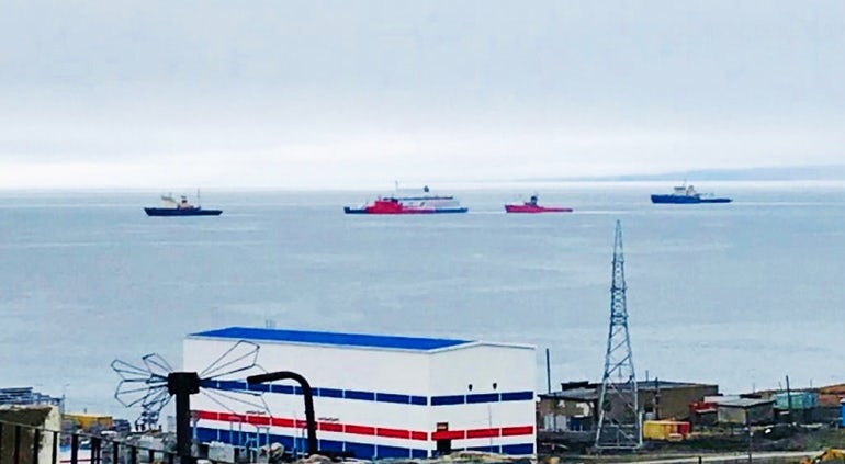 Floating Nuclear Station Arrives At Arctic Base