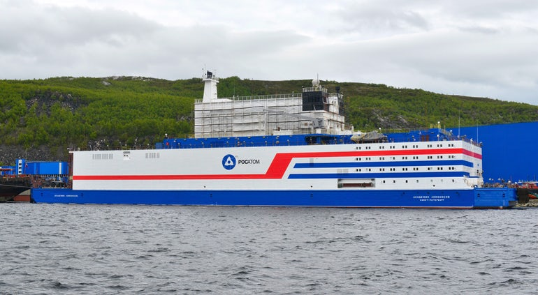 Russia's Floating Nuclear Plant Begins Journey To Arctic
