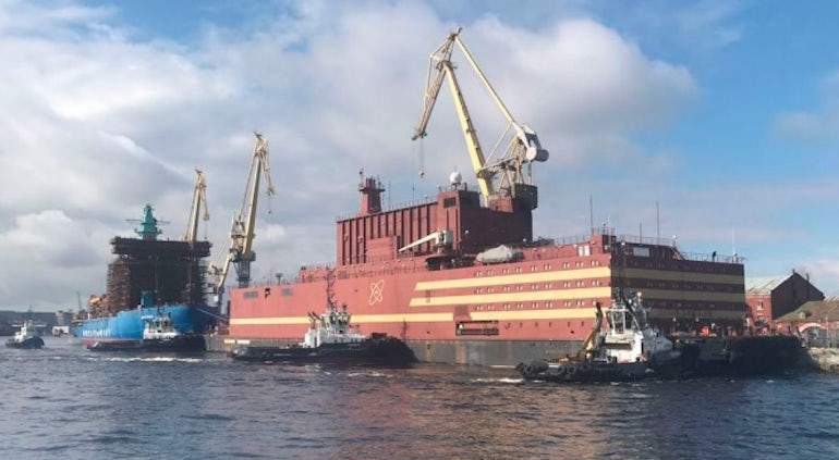 Fuel Loading Begins At Russia's First Commercial Floating Nuclear Station