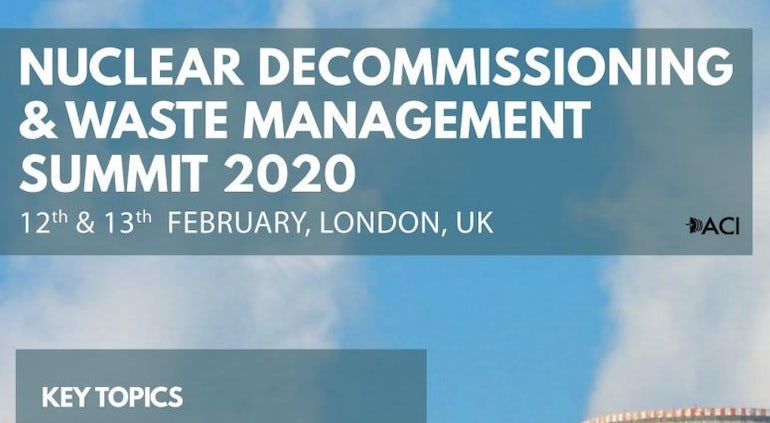 (Past Event) 7th Nuclear Decommissioning and Waste Management Summit