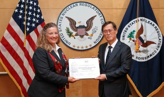 South Korean Reactor Design Receives US Certification