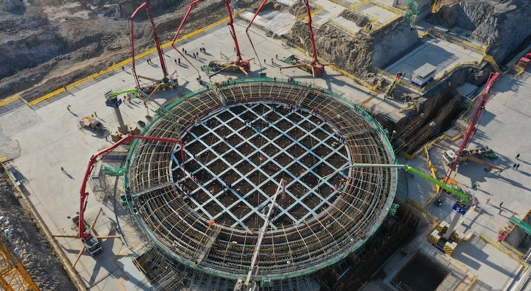 First Concrete Poured For New Hualong One Unit At Zhejiang