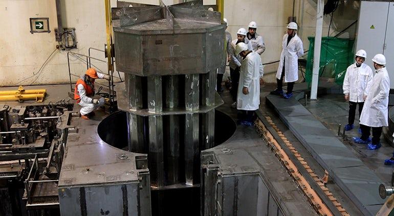 Belarusian-2 Reactor Core Loaded with Dummy Fuel Assemblies