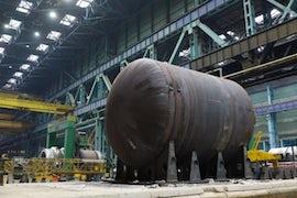 Welding Complete Of Lower Half Of Kursk 2 RPV