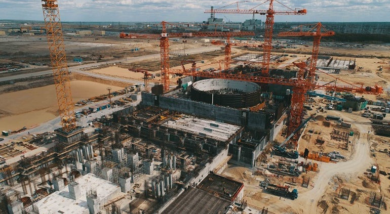Concrete Of Turbine Building Foundation Plate Complete At Kursk 2-2